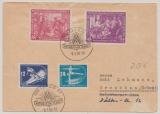 DDR, 1950, Mi.- Nr.: 246- 47 + 248-49 in MiF auf Auslandsbrief von Leipzig nach Grenchen (CH)