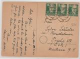 215 als reine MeF auf netter Auslands- Glückwunsch- Postkarte, seltene Portodarstellung!