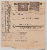 Berlin, 1948, Kontrollrat, Mi.- Nr.: 928 (2x) als MeF auf Orts- Drucksachen- Streifband innerhalb Berlin´s, sehr selten!!!