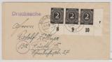Berlin, 1947, Kontrollrat, Mi.- Nr.: 912 (3x, 1x mit DZ 3!!!) als MeF auf Drucksachen- Fernbrief von Berlin nach Fürth