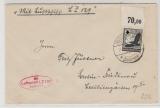 DR, 1936 (?), Mi.- Nr.: 537 OR, als EF auf Zeppelinbrief, von Friedrichshafen nach Berlin