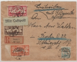 133, 134, 136 + 138 zus. als MiF, auf Lupo- E. Brief von Danzig nach Berlin