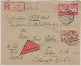 118 + 135, in MiF. auf Nachname- E.- Fernbrief von Oliva nach Berlin