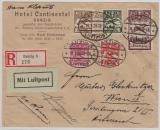202- 206, als MiF, auf Satz- Lupo- Einschreiben- Auslandsbrief, von Danzig nach Wien, selten!