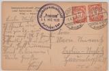 193 (2x) auf Postkarte Auf hoher See aufgegeben nach Berlin, Bildseitig Foto des Schiffs (Preussen)