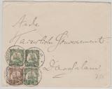DOA, 11+ 12 (3x) als MiF auf Brief von Wilhelmsthal (DOA) nach Dar-Es-Salam