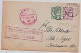 DR 378 + A 379 in MiF auf Zeppelinpostkarte von Konstanz (mit Flugpost- Stempel!) nach Berlin