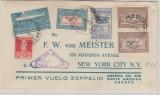 Argentinien, div. Ausgaben, 1930, Brief per Zeppelin befördert nach New York, via Lakehurst, mit rs. Transitstempel