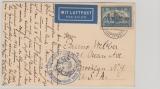 365 als EF auf Postkarte zur 1. Amerikafahrt 1930, nach New York