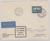 DR 365, als Ef auf Lupo- Luftschiffbrief nach Zürich (Schweiz), mit Ankunftsstempel