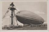 DR 516, als EF zur Erinnerungspostkarte (mit Zeppelinfoto, rs.) zum Besuch der Zeppelin Reederei in FF/M.