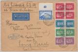 DR 424 (vom OR), u.a., auf Lupo- Zeppelinbrief nach Long Beach (USA), rs. Transitstempel New York