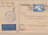 DR 423, als EF auf Lupo- Karte zur 1. Amerikafahrt 1929, von Friedrichshafen nach New York