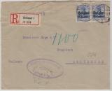 Dt. Bes Belgien, Nr. 4 Mef auf Einschreiben von Brüssel nach Amsterdam, mit Postzensur