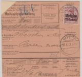 Dt. Bes. Belgien Nrn.: 3 (rs.) +  6 in MiF auf Auslandspostanweisung