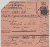 Dt. Bes. Belgien Nrn.: 3 (rs.) +  5 in MiF auf Auslandspostanweisung