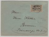 Oberschlesien, Nrn.: 22 b als Fernbrief von Ratibor nach Bremen, Marke rs. gepr. Gruber BPP