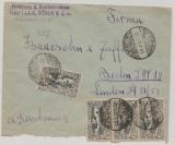 Oberschlesien, Nr.: 22 (4x) auf Fernbrief von Preussisch- Herby nach Berlin