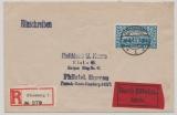 Schleswig, Nr.: 12 , als EF auf Expres- Einschreiben- Fernbrief, von Flensburg nach Kiel