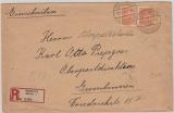 Schleswig, Nr.: 25 Pfg., als MeF auf Einschreiben- Fernbrief, von Glücksburg nach Gumbinnen