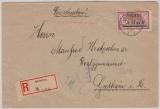 Nr.: 69 als EF auf Fernbrief- Einschreiben von Heydekrug nach Geithain, mit Zensur