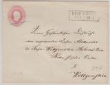 1 Sgr.- GS- Umschlag (großes Vormat) als Fernbrief von Berleburg nach Wittgenstein
