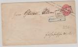 1 Sgr.- GS- Umschlag, verwendet als Stadtbrief innerhalb Berlins, mit besserem Stempel Franco Stadtbrief (in blau!)