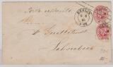 1 Sgr.- GS- Umschlag, + Nr. 16 als Zusatzfrankatur, als Brief von Berlin nach Schwiebus, Postlagernd!
