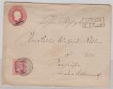1 Sgr.- GS- Umschlag (groß) mit 1x Nr. 10 als Zusatzfrankatur, auf Fernbrief von Grimmen nach Seehausen