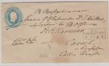 2 Sgr.- GS- Umschlag, als Fernbrief von Bad Oyenhausen nach Cassel
