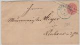 1 Sgr.- GS- Umschlag als Fernbrief von Bokenem nach Neuhaus, mit gutem Alt- Hannover Vorphilastempel