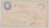 2 Groschen GS- Umschlag verwendet als Fernbrief von Clausthal (Braunschweiger Stempel!) nach ...(?)
