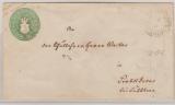 1 1/2 Sh.- GS- Umschlag, gelaufen als Fernbrief von Schwerin nach Probstdesar (?)
