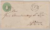 1 1/2 Sh.- GS- Umschlag, gelaufen als Fernbrief von Rostock nach Güstrow (?)