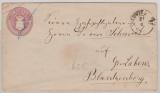 2 Sh.- GS- Umschlag, gelaufen als Fernbrief von Ludwigslust nach Gr. Labens (?) / Blankenberg
