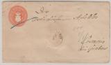 1 Sh.- GS- Umschlag, gelaufen als Fernbrief von Schwerin nach Cremmin