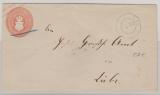1 Sh.- GS- Umschlag, gelaufen als Fernbrief von Plau nach Lübz