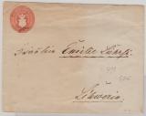 1 Sh.- GS- Umschlag (groß,UIB), gebraucht als Ortsbrief innerhalb Schwerins