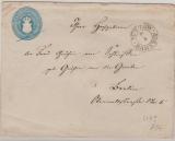 5 Sh.- GS- Umschlag (groß, U4B), gebraucht als Fernbrief von Bützow nach Berlin (?)
