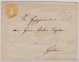 3 Sh.- GS- Umschlag (groß), gebraucht als Fernbrief von Schwerin nach Güstrow