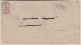 Nr.: 5, als Halbierung, auf Brief von Rostock nach?