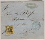 Nr.: 6 als Ef auf Fernbrief von Braunschweig nach Soßmar