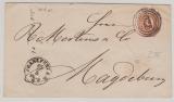 9 Kr. GS- Umschlag, verwendet als Fernbrief von FFM nach Magdeburg