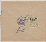 Nrn: 95, 97 + Stadtpost Warschau Nr. 10 (rückseitig), in MiF auf Fernbrief von Augsburg nach Warschau, RRR!
